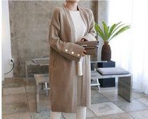 TOM&RABBIT Casual Style Long Sleeves Plain Long Gowns Oversized