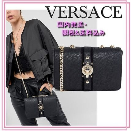2WAY Chain Plain Elegant Style Handbags