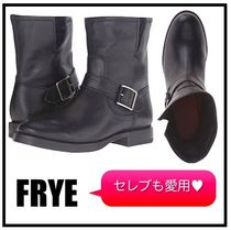 FRYE Casual Style Plain Leather Flat Boots