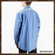 BALENCIAGA Button-down Stripes Long Sleeves Cotton Shirts