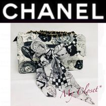 CHANEL ICON Flower Patterns Blended Fabrics Street Style 2WAY Bi-color