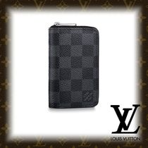 Louis Vuitton DAMIER GRAPHITE Other Check Patterns PVC Clothing Coin Cases