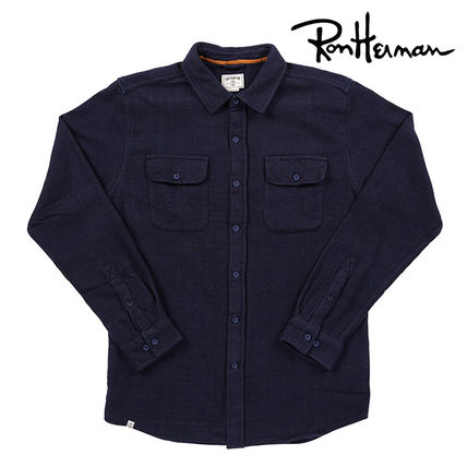 Street Style Long Sleeves Plain Cotton Handmade Shirts