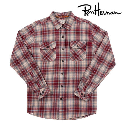 Tartan Other Check Patterns Street Style Long Sleeves Cotton