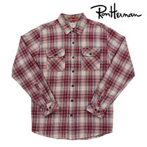 Ron Herman Tartan Other Check Patterns Street Style Long Sleeves Cotton