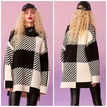 ELF SACK Gingham Casual Style Street Style Sweaters