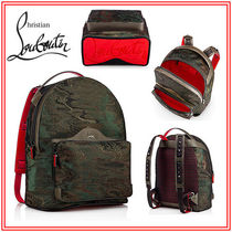 Christian Louboutin Camouflage Canvas Blended Fabrics Backpacks