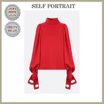 SELF PORTRAIT Casual Style Puffed Sleeves Plain Shirts & Blouses