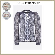 SELF PORTRAIT Casual Style Puffed Sleeves Shirts & Blouses