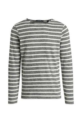 Scotch & Soda Sweatshirts Crew Neck Pullovers Stripes Street Style Long Sleeves Cotton