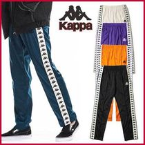 Kappa Unisex Street Style Long Oversized Pants