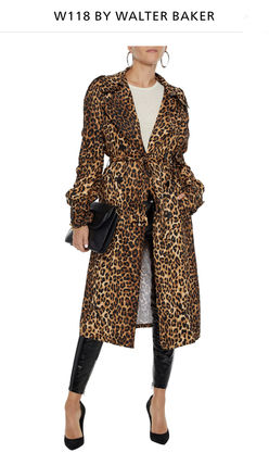 Leopard Patterns Long Trench Coats