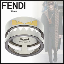FENDI BAG BUGS Plain Metal Rings