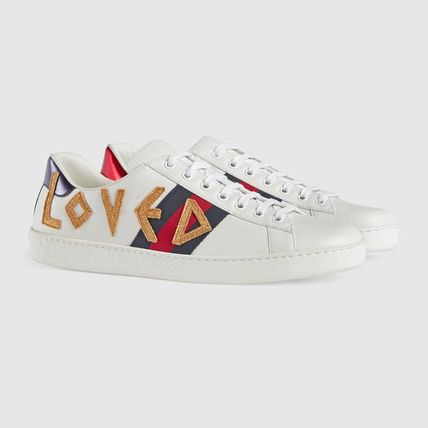 d4e120c3248 ... GUCCI Sneakers Stripes Blended Fabrics Street Style Plain Leather  Sneakers 3 ...