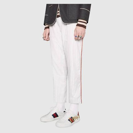 2507c2e703e ... GUCCI Sneakers Stripes Blended Fabrics Street Style Plain Leather  Sneakers 7 ...