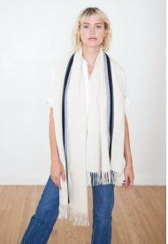 Stripes Casual Style Wool Lightweight Scarves & Shawls