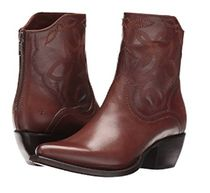 FRYE Cowboy Boots Casual Style Plain Leather Block Heels