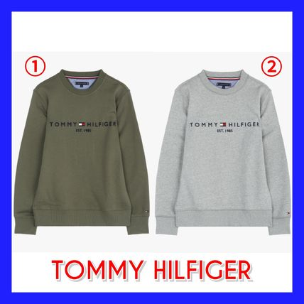 Tommy Hilfiger Sweatshirts Crew Neck Long Sleeves Plain Sweatshirts