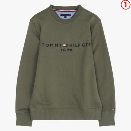 Tommy Hilfiger Sweatshirts Crew Neck Long Sleeves Plain Sweatshirts 2