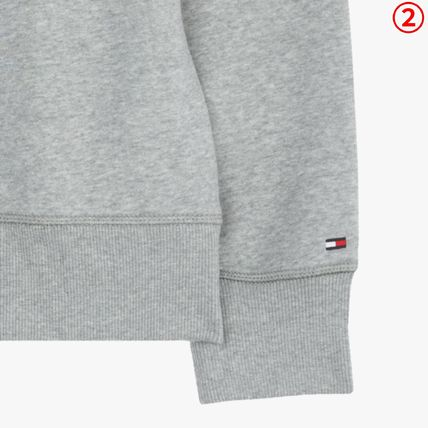 Tommy Hilfiger Sweatshirts Crew Neck Long Sleeves Plain Sweatshirts 9