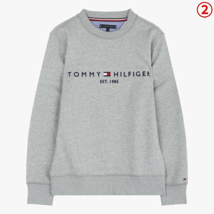 Tommy Hilfiger Sweatshirts Crew Neck Long Sleeves Plain Sweatshirts 11