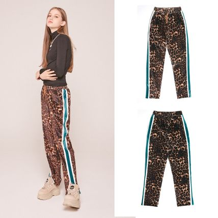 Leopard Patterns Casual Style Street Style Long Pants