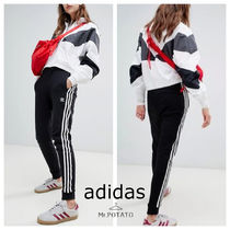 adidas Stripes Casual Style Unisex Sweat Street Style Plain Medium