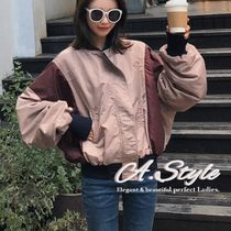 Street Style Plain Medium MA-1 Oversized Bold Bomber Jackets