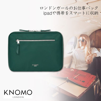 Nylon Bag in Bag Plain Office Style Clutches