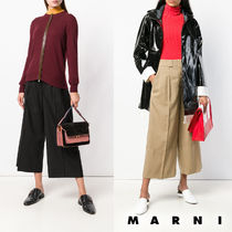 MARNI Wool Plain Medium Elegant Style Culottes & Gaucho Pants