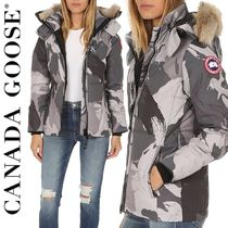 CANADA GOOSE CHELSEA PARKA Short Camouflage Fur Blended Fabrics Down Jackets