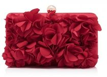 FOREVER NEW Flower Patterns 2WAY Chain Plain Party Style Bold Clutches