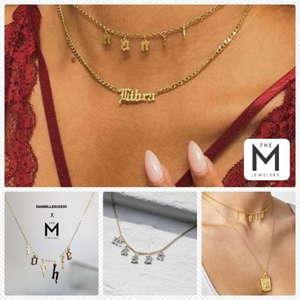 Initial Street Style Chain With Jewels Elegant Style