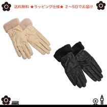 MARY QUANT Flower Patterns Plain Smartphone Use Gloves