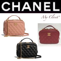CHANEL MATELASSE Other Check Patterns Calfskin Street Style 2WAY Chain Plain