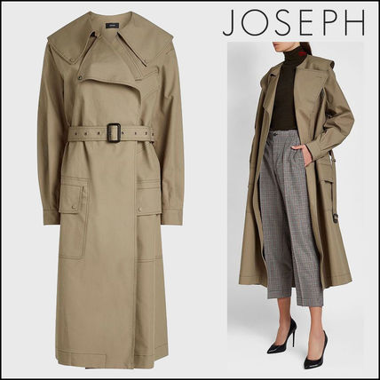 Casual Style Plain Long Trench Coats