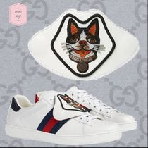 GUCCI Ace Street Style Other Animal Patterns Leather Shoes
