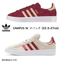 adidas CAMPUS Stripes Unisex Suede Plain Bold Sneakers