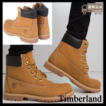 Timberland Mountain Boots Round Toe Rubber Sole Casual Style Plain