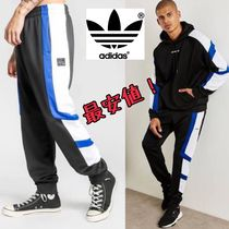 adidas Street Style Bi-color Cotton Cropped Pants