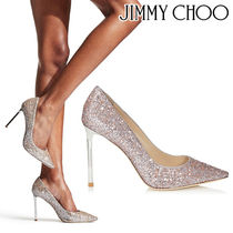Jimmy Choo Leather Pin Heels Party Style Pointed Toe Pumps & Mules