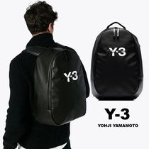 Y-3 Unisex Street Style A4 Plain Backpacks