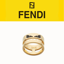 FENDI BAG BUGS Metal With Jewels Rings