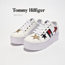 Tommy Hilfiger Star Platform Round Toe Lace-up Casual Style Street Style