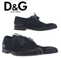 Dolce & Gabbana Wing Tip Suede Plain Oxfords