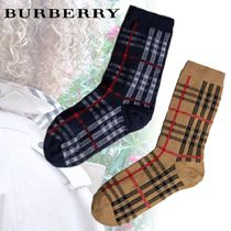 Burberry Other Check Patterns Unisex Cotton Undershirts & Socks