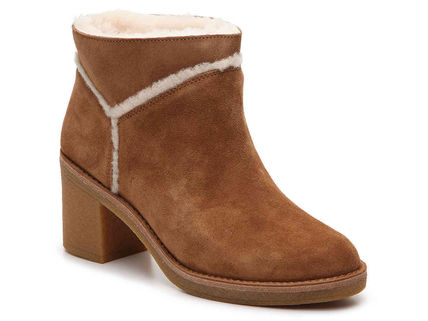 UGG Australia Ankle & Booties Round Toe Casual Style Suede Street Style Plain Block Heels 6