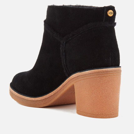 UGG Australia Ankle & Booties Round Toe Casual Style Suede Street Style Plain Block Heels 10