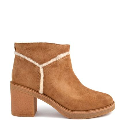 UGG Australia Ankle & Booties Round Toe Casual Style Suede Street Style Plain Block Heels 13