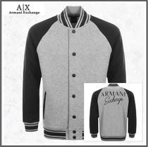 A/X Armani Exchange Short Unisex Street Style Bi-color Varsity Jackets